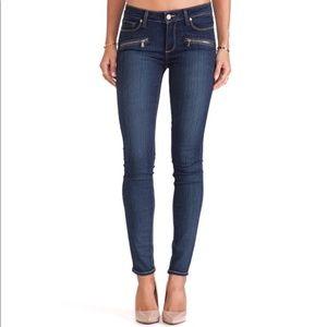 Paige Indio Zip Dark Denim Skinny Jeans Size 26